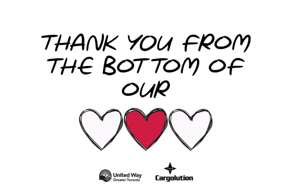 Blog post: Cargolution is proud of its campaign for Centraide / United Way